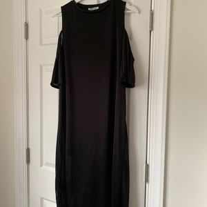 NWT Zara Black Dress with Cut-out Shoulders